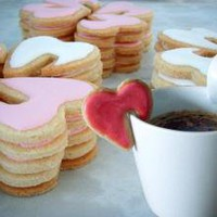 Edge of the Cup Cookies by BitterSweetCakeShop on Etsy
