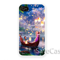 Disney Tangled Lights Art - iPhone Case - iPhone 4 iPhone 4s - iphone 5 - Samsung S3 - Samsung S4