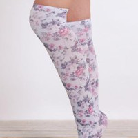Garden Flower Knee High Socks - $12.00 : ThreadSence.com, Your Spot For Indie Clothing & Indie Urban Culture