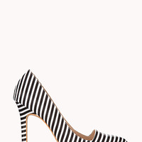 Standout Striped Pumps Heels Stripes Black and White