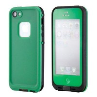 GEARONIC Waterproof Shockproof Full Body Skin Case Cover Pouch for iPhone 5, Multi Purpose Protective Skin for water, shock, snow, dirt - Green