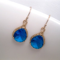 Fantasy WiFi Blue Rope Earrings
