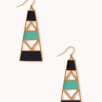 Touch-of-Glam Geo Drop Earrings