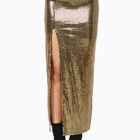 Golden Rule Sequin Midi Skirt