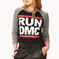 Run DMC Cropped Baseball Tee