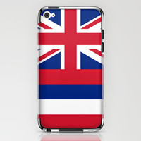 The State flag of Hawaii - Authentic version iPhone & iPod Skin by LonestarDesigns2020 - Flags Designs +