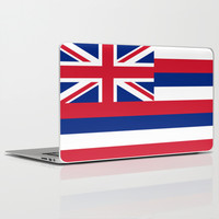 The State flag of Hawaii - Authentic version Laptop & iPad Skin by LonestarDesigns2020 - Flags Designs +