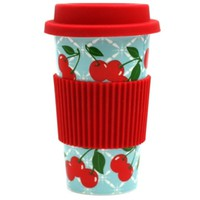 Cherry Kitchen Porcelain Travel Mug