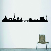 Skyline Paris wall sticker Hu2 Design original pvc free biological eco friendly decals decoration vinyl