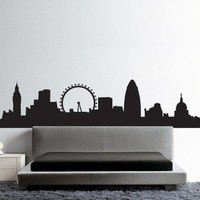 Skyline London B wall sticker Hu2 Design original pvc free biological eco friendly decals decoration viny