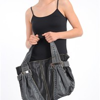 222-3-1-STG4677-BLACK FASHION STONE PU HANDBAG/3PCS