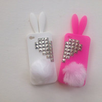 Bunny BFF White/Hot Pink iphone 4 case
