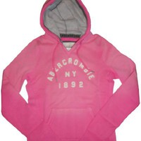 Women's / Girl's Abercrombie and Fitch Hooded Sweat Jacket Hoodie Pink Size Large