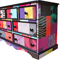 Patchwork Merchants Chest Of Drawers