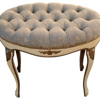 One Kings Lane - Deep Buttoned Vanity Stool