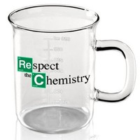 """Respect the Chemistry"" Beaker Mug inspired by Breaking Bad"