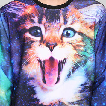 Cat In Space Pullover Sweatshirt - Urban Outfitters