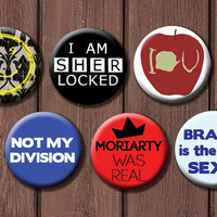 Sherlock Button Set - Choose 6
