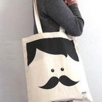 Supermarket - Mr. Moustache tote bag from Sirena con Jersey