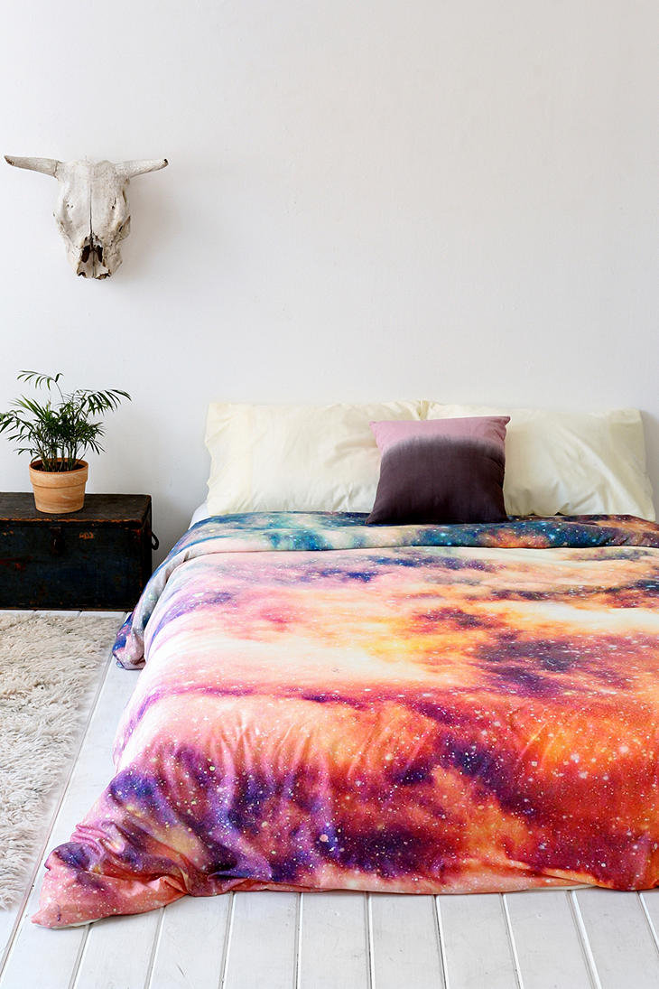 shannon clark for deny cosmic duvet cover urban outfitters. Black Bedroom Furniture Sets. Home Design Ideas