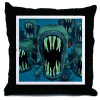 Piranhas Throw Pillow