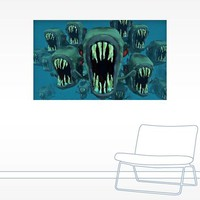 Piranhas Underwater Wall Decal