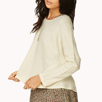 Touch-Of-Glam Buttoned Back Sweater