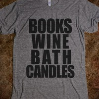 BOOKS WINE BATH CANDLES