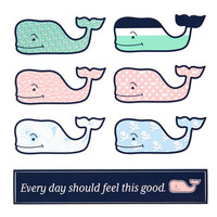 Whale Shop: 6-Pack of Assorted Whale Stickers