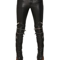 Indie Designs Saint Laurent Paris Inspired Faux Leather Biker Pants