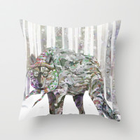 Winter Wonder Dog Throw Pillow by Ben Geiger