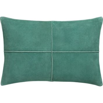 Crate And Barrel Decorative Pillow Cases : Nesbit Teal 18