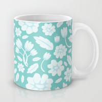 Blue Floral Mug by Ornaart
