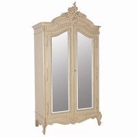 Normandy 2-Door Mirrored Shabby Chic Armoire