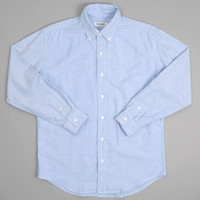 dubbleworks - long sleeved bd oxford shirt saxony blue