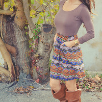 Keep It Coming Dress: Brown/Multi