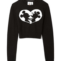 Mickey and Minnie Cropped Sweater
