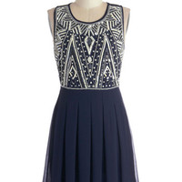 ModCloth 20s Mid-length Sleeveless A-line Moderne to Wear Dress