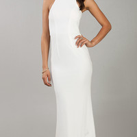 Floor Length Sleeveless Ivory Dress