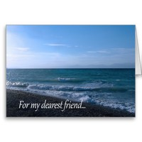 By the Sea for Friend - Friendship Poem Cards