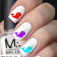 Narwhal Nail Decal