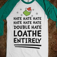 White/Evergreen T-Shirt | Grinch Funny Christmas Shirts