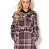 Yoki Plaid Button-Up Coat - 100 of The Best Coats for Fall - Modnique.com