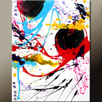 Abstract Canvas Art Painting 18x24 Original Contemporary Modern Art Paintings by Destiny Womack - dWo - Random Acts