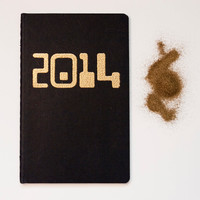 So Gold 2014 notebook, blank pocket moleskine glam stocking stuffer