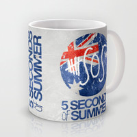 5 Seconds of Summer Flag Mug by dan ron eli
