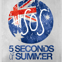 5 Seconds of Summer Flag Art Print by dan ron eli