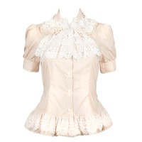 TP00055-IY Beautiful Ivory Gothic Lolita Blouse