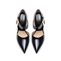 HIGH HEEL LEATHER COURT SHOW WITH BUCKLE - Shoes - WOMAN | ZARA United States