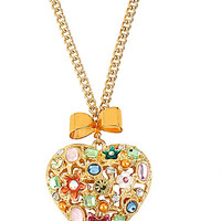 BetseyJohnson.com - FAIRYLAND HEART PENDANT MULTI